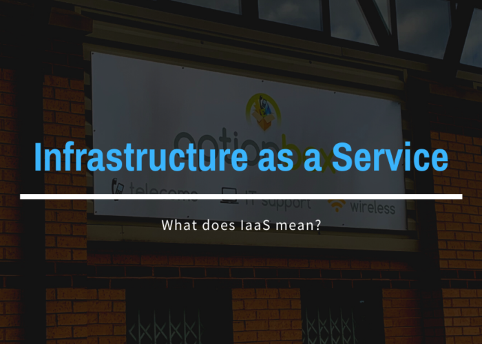 What does Infrastructure as a Service mean?